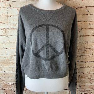 "Fifth Sun "" More Peace"" Cropped Sweatshirt"